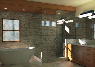 Bathroom Rendering 3A