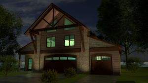 Garage – Night Rendering